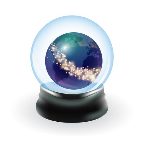 Sneeuw globe sjabloon vector