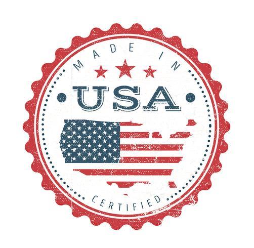 Gemaakt in de VS Vintage badge zegel vector