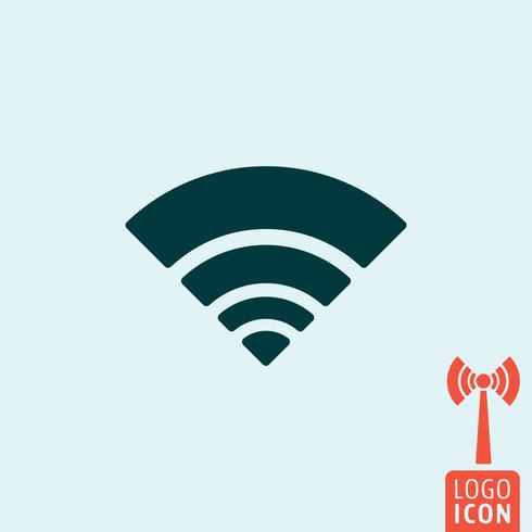 Wifi-pictogram geïsoleerd vector