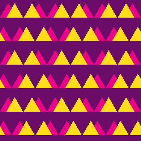 Naadloos uitstekend abstract patroon met driehoeken in de stijl van de jaren 80. Mode achtergrond in Memphis. vector