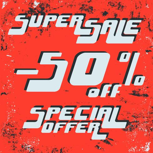 Super verkoopaffiche vector