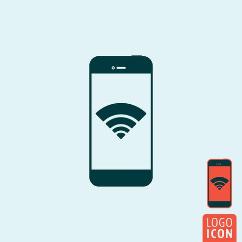 Smartphone wifi-pictogram vector