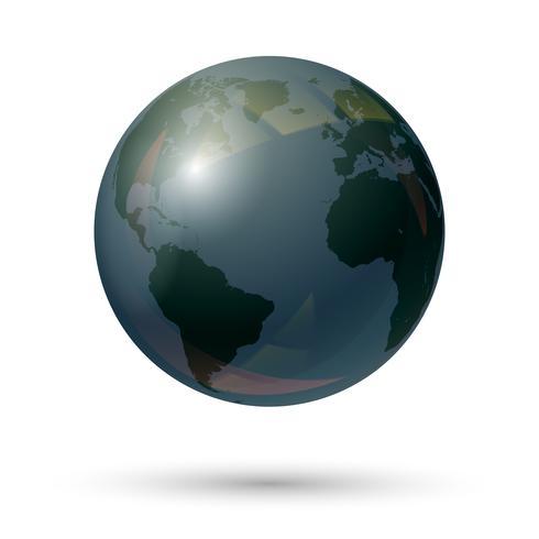 Globe aarde pictogram vector
