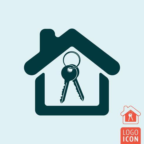 Huis pictogram geïsoleerd vector