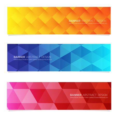 Sjabloon voor abstract ontwerp-banner web. vector