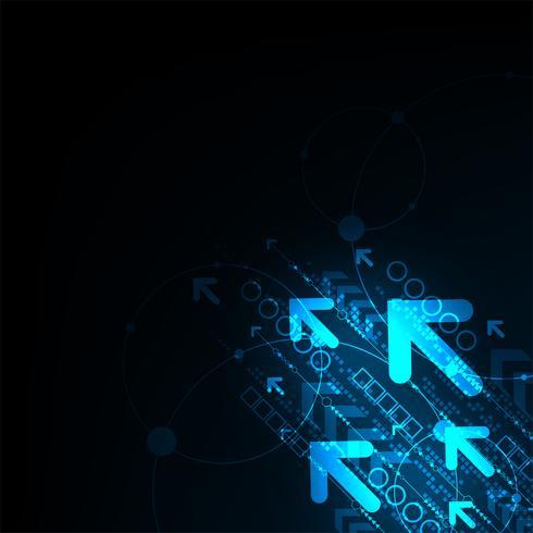 De beweging van informatie in de digitale wereld. vector