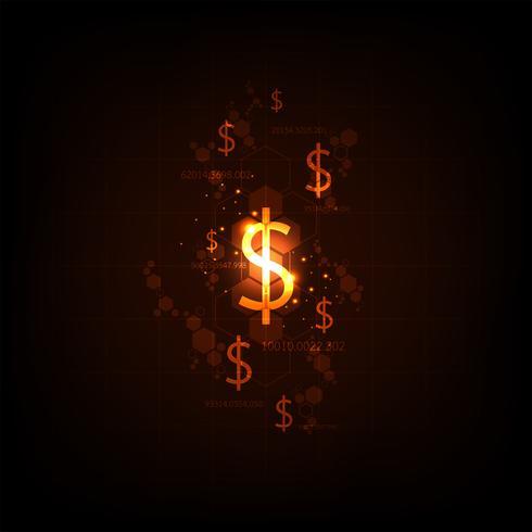 Elektronisch geldalternatief voor de toekomst. vector