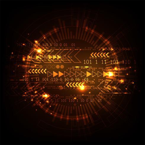 Snelheid van technologie in de digitale wereld. vector
