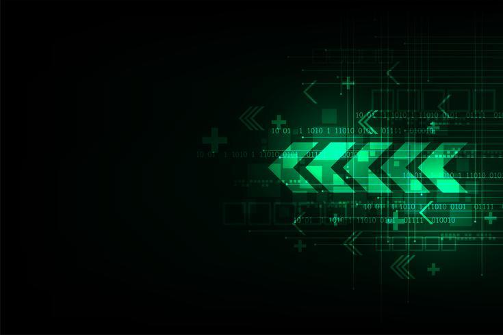 Technologie in het pijlconcept. vector