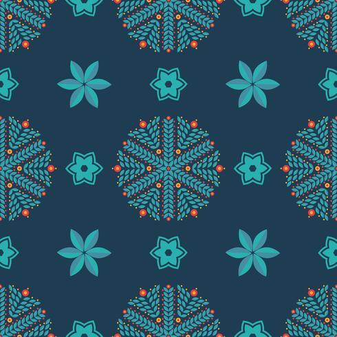 Naadloos patroon van sneeuwvlokken vector