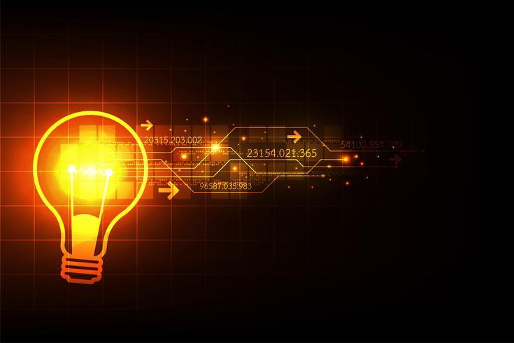 Creativiteit die leidt naar de wereld van de toekomst. vector