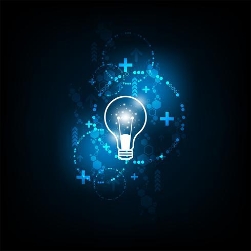 Een lamp die staat voor creativiteit. vector