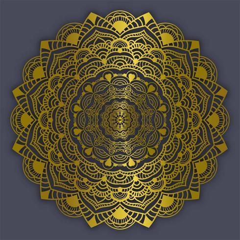Mandala vintage decoratie elementen gouden kleur vectorillustratie vector