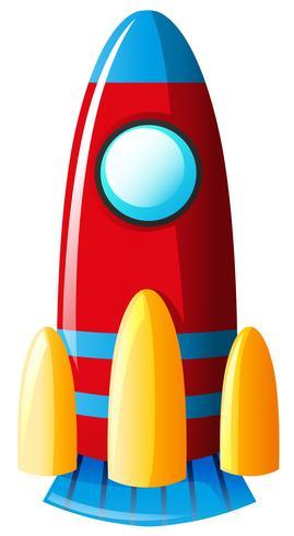 Speelgoedraket in rode kleur vector