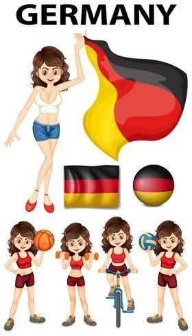 Duitsland vertegenwoordiger en vele sporten vector