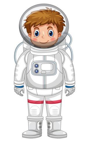 Jongen in astronautenoutfit vector