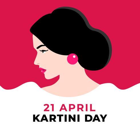 Kartini-dag vrouwelijke figuur illustratie vector