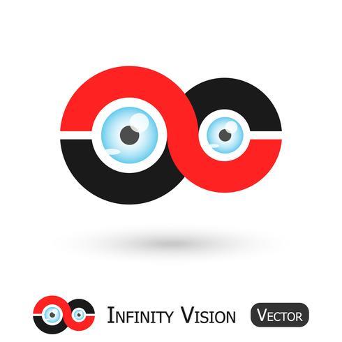 Infinity Vision (oneindigheidsteken en oogbol) vector