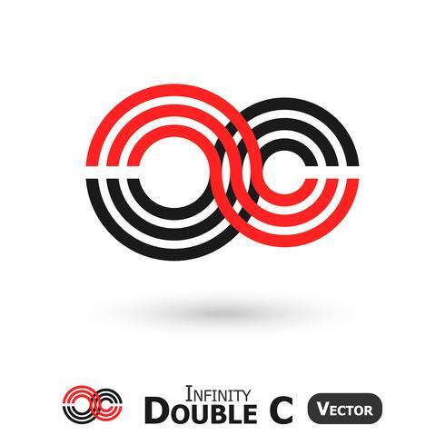 Double C Infinity (Infinity Sign ziet eruit als C-vorm) vector