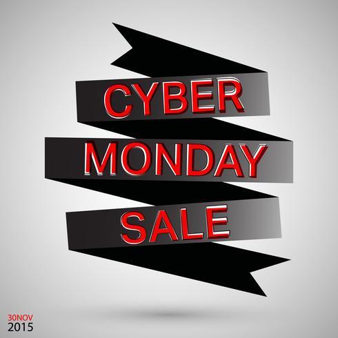 Cyber maandag lint vector