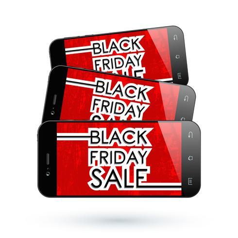 Black Friday-smartphone vector