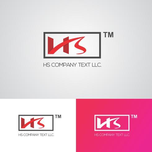 Creatieve HS Logo ontwerpsjabloon vector