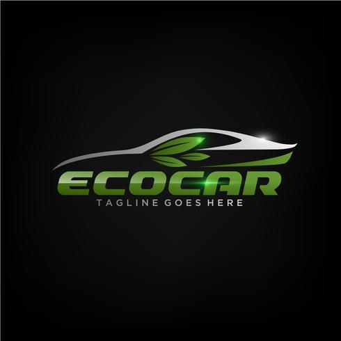 Eco Car Logo-ontwerp vector