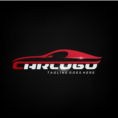 Elegante rode auto Logo ontwerp vector