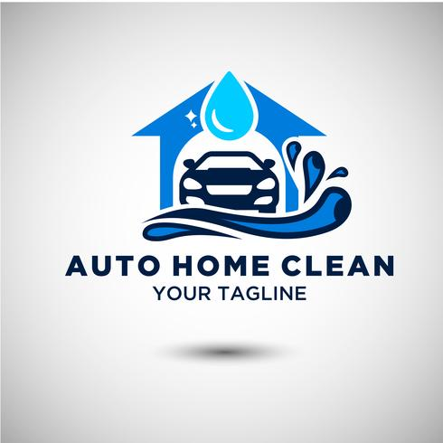Auto Clean Car Logo-ontwerp vector