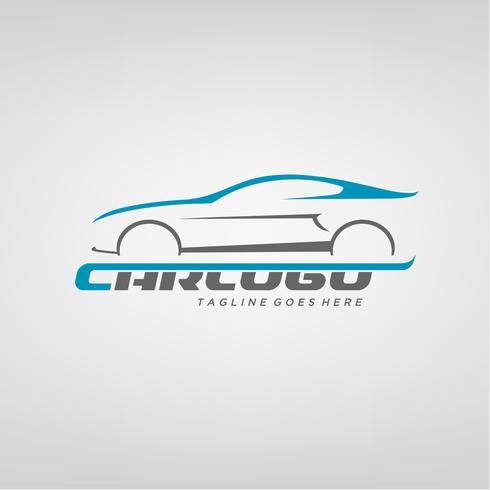 Elegant auto-logo ontwerp vector