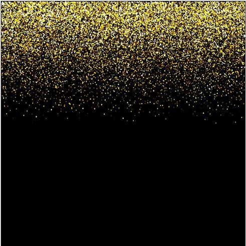 watervallen gouden glitter sparkle-bubbles champagne deeltjes sterren zwarte achtergrond Gelukkig Nieuwjaar vakantie concept. vector