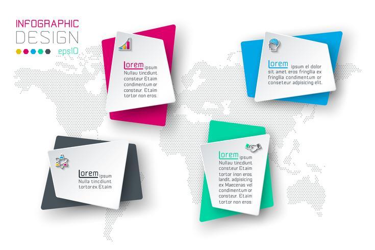 Zakelijke infographic met 4 labels. vector