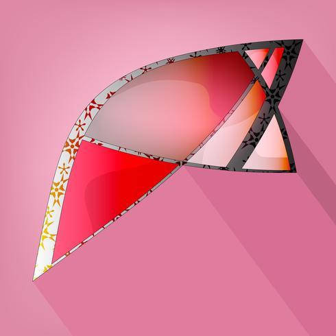 Abstracte geometrische vorm vector