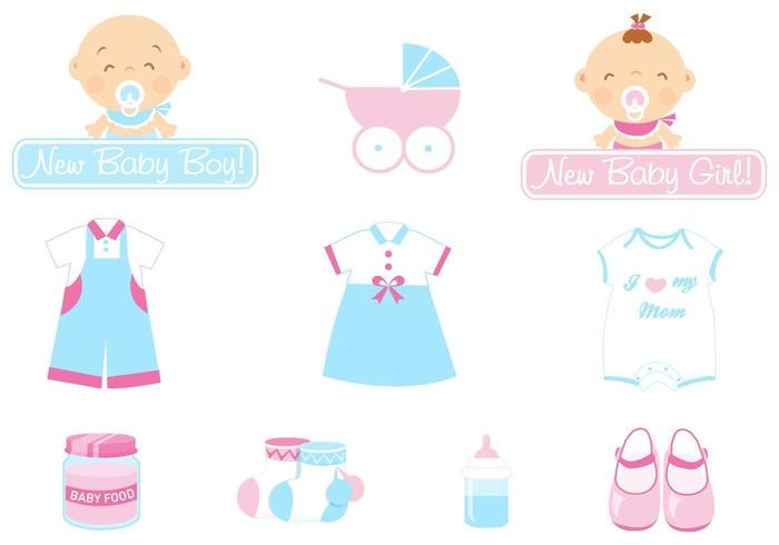 baby vector pictogram pack