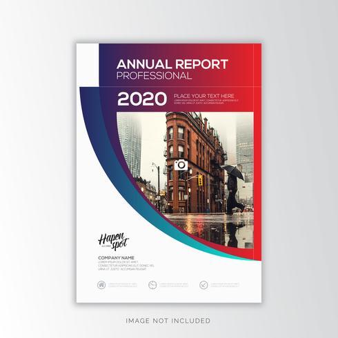 Jaarverslag Zakelijk, creatief ontwerp vector