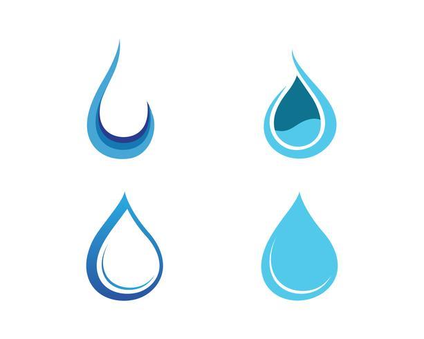 Waterdruppel en blad Logo sjabloon vectorillustratie vector