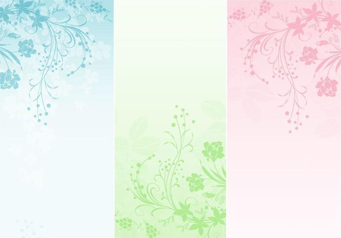 Pastel bloemen banner vector pack