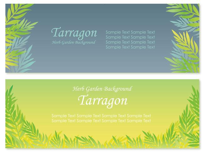 Set van twee vector achtergrondillustraties met dragon.