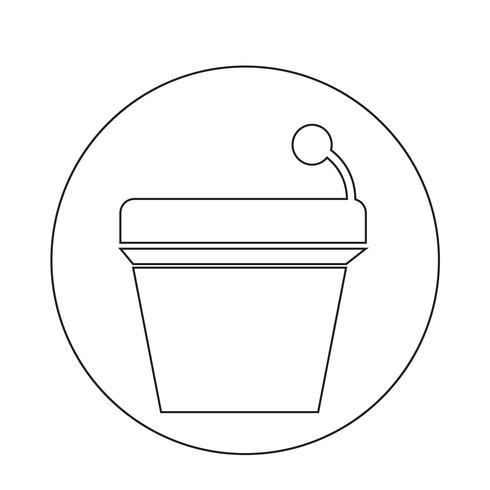 Podium pictogram vector