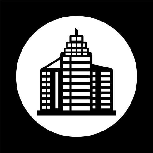 Kantoorgebouw pictogram vector