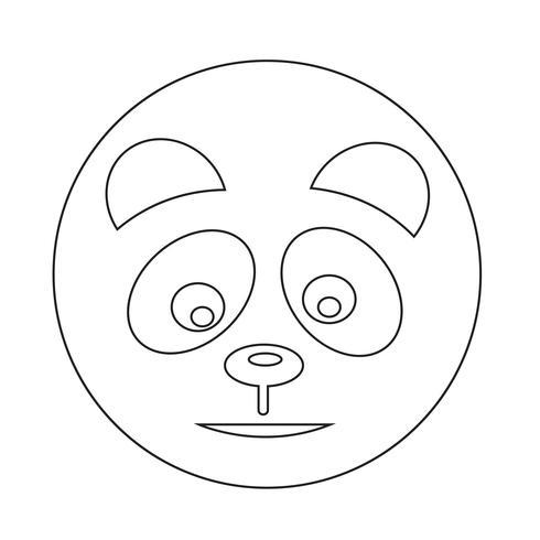 Panda pictogram vector