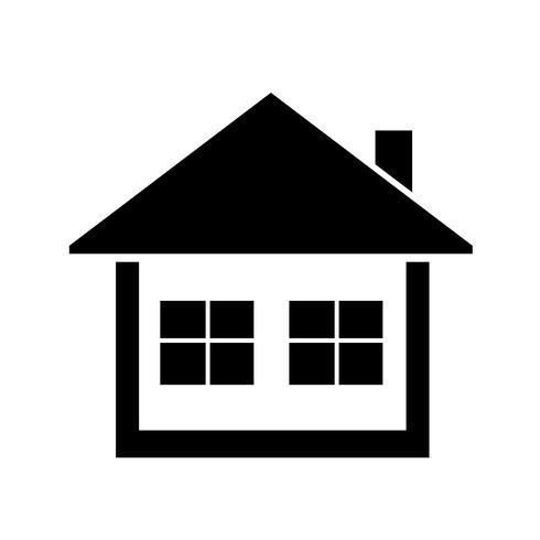huis pictogram eenvoudig symbool vector
