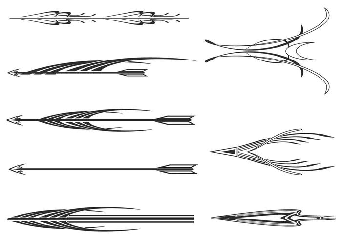 Decoratieve Pijlen Vector Pack