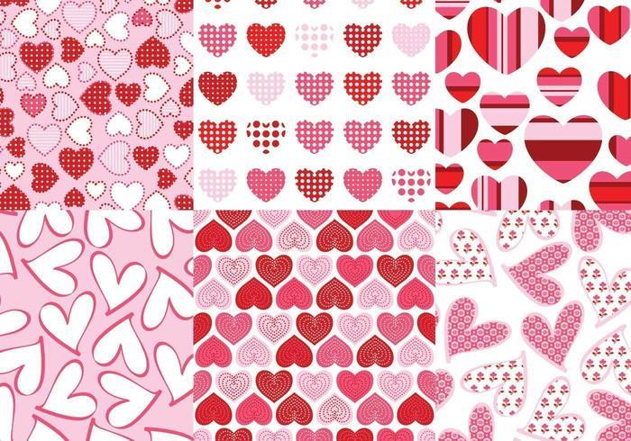 Liefdevolle harten Vector patroon Pack