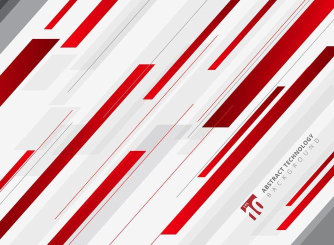 Abstracte de diagonaal achtergrond van de technologie geometrische rode kleur glanzende motie. Sjabloon voor brochure, print, advertentie, tijdschrift, poster, website, tijdschrift, folder, jaarverslag. vector