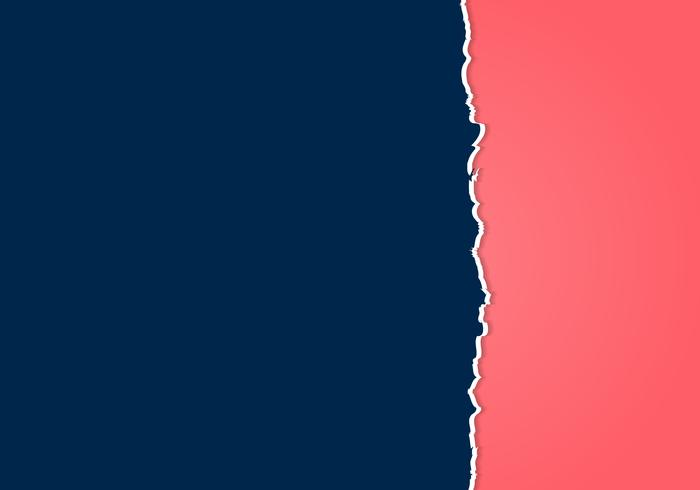 Samenvatting gescheurde donkerblauwe en roze document rafelige rand met ruimte voor tekst. vector