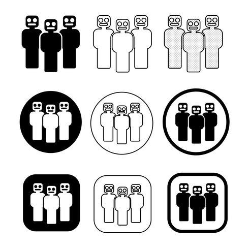 Teken van pictogram Mensen instellen vector