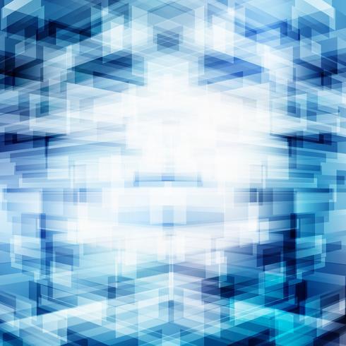 Abstracte virtuele technologie 3D-futuristische geometrische overlappende blauwe achtergrond met verlichting. Digitaal big data-perspectief. Röntgenstralen transparantie opbouwen. vector