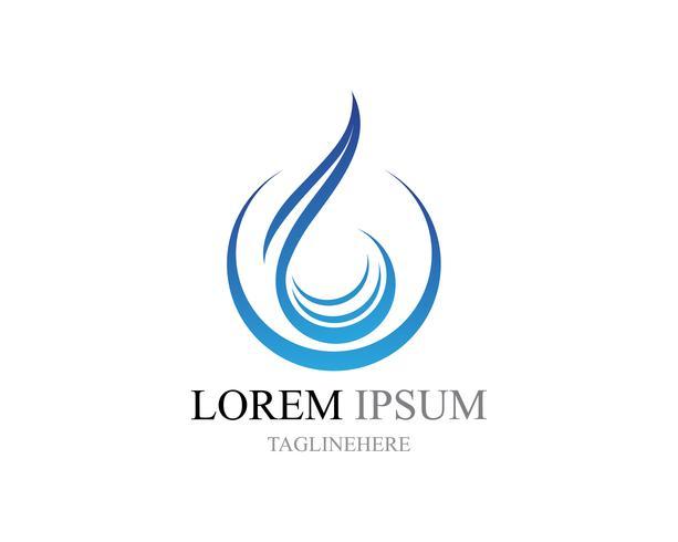 Waterdruppel Logo sjabloon vector