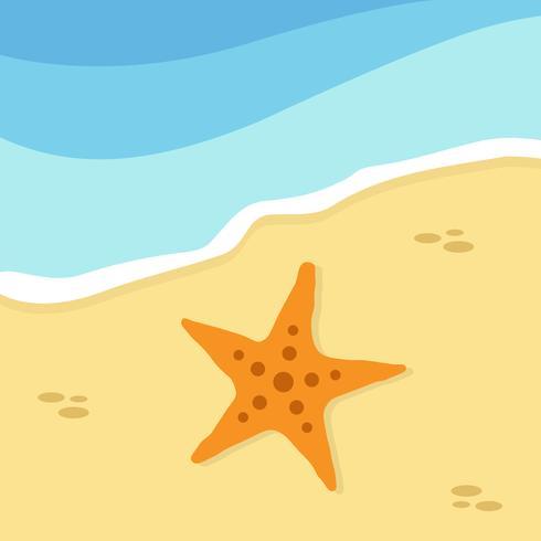 Zomertijd en strand vector